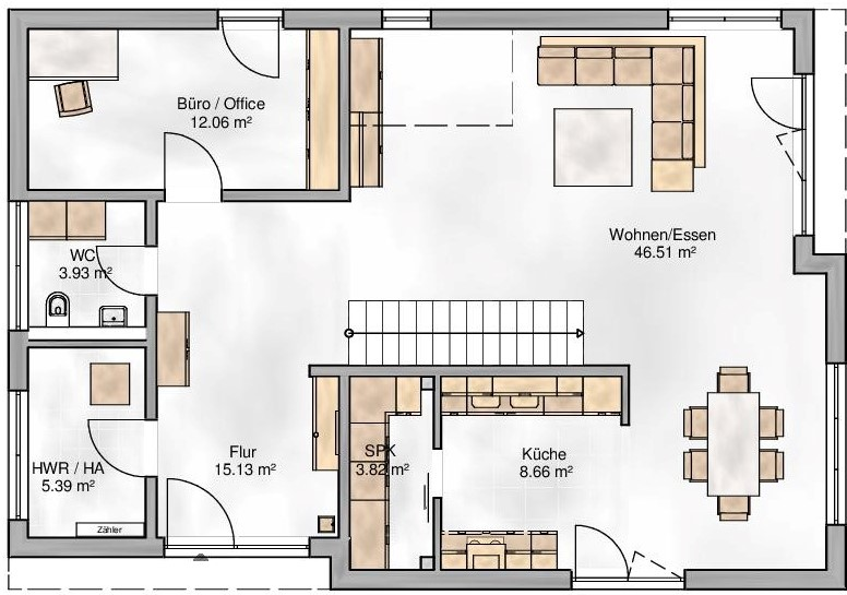 Haus Union - Haustypen - Berlin - Grundriss - EG
