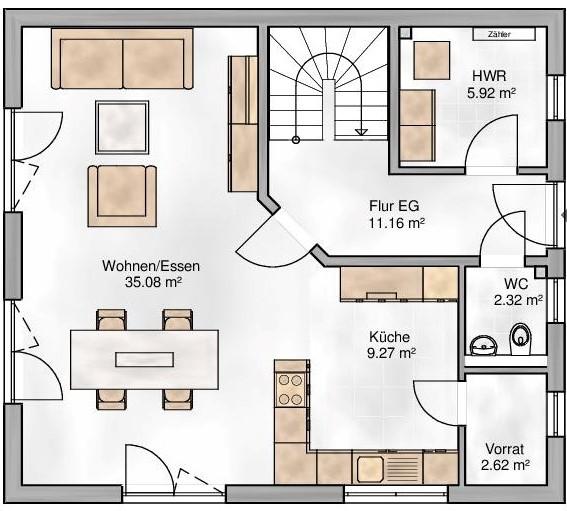 Haus Union - Haustypen - Bozen - Grundriss - EG