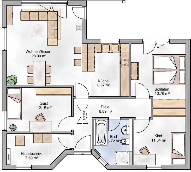 Haus Union - Haustypen - Cannes - Grundriss - DG