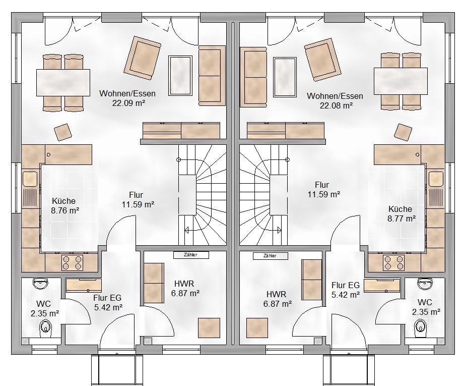 Haus Union - Haustypen - Graz - Grundriss - eg