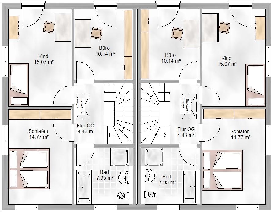 Haus Union - Haustypen - Graz - Grundriss - OG