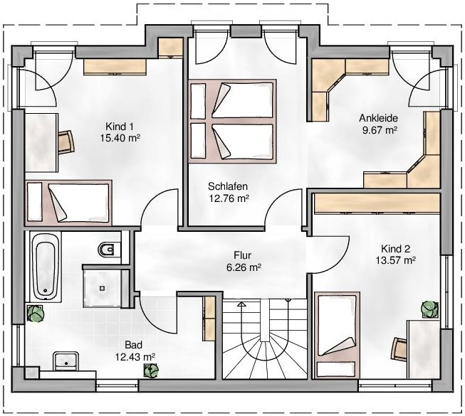 Haus Union - Haustypen - Kopenhagen - Grundriss - OG