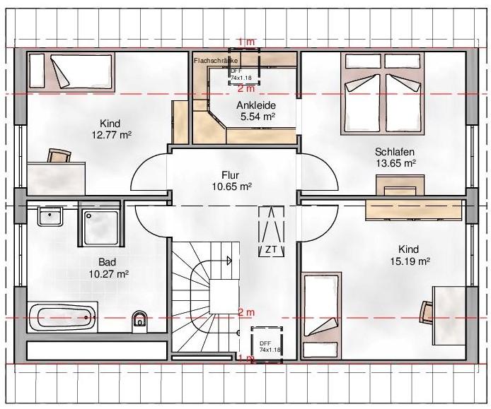 Haus Union - Haustypen - Milano - Grundriss - OG