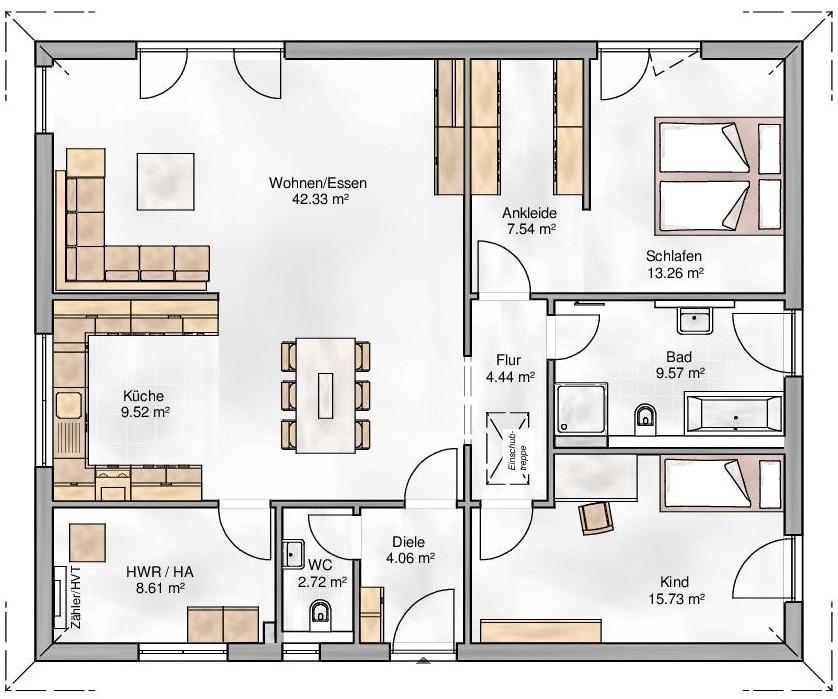 Haus Union - Haustypen - Nizza - Grundriss - EG