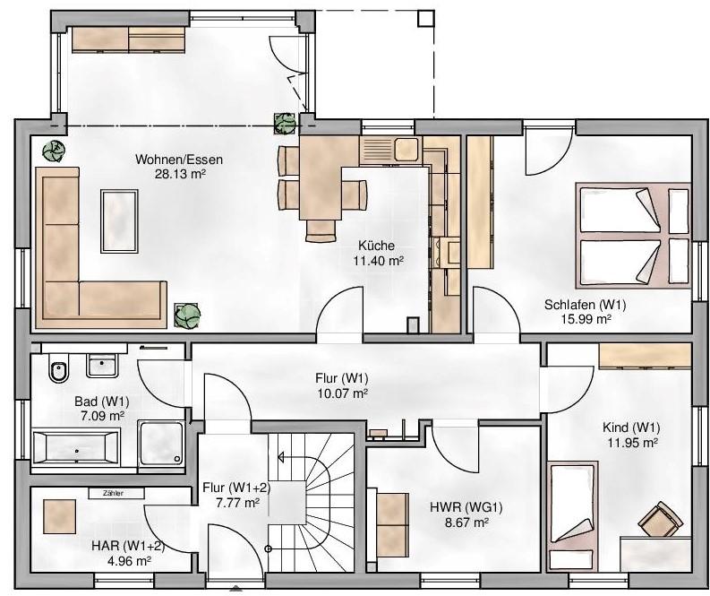 Haus Union - Haustypen - Oslo - Grundriss - EG