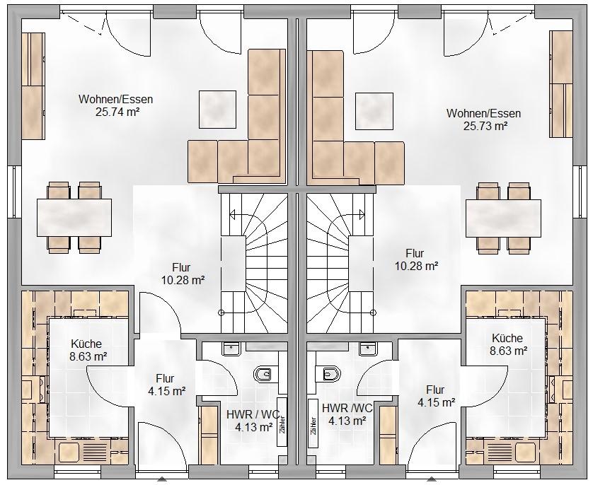 Haus Union - Haustypen - Salzburg- Grundriss - EG
