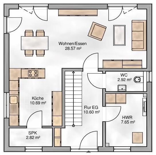 Haus Union - Haustypen - Siena- Grundriss - EG