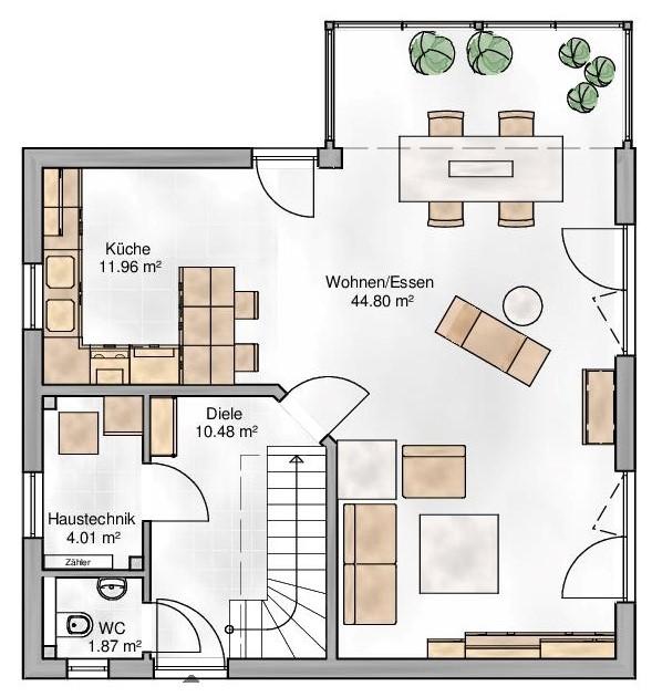 Haus Union - Haustypen - Verona- Grundriss - EG