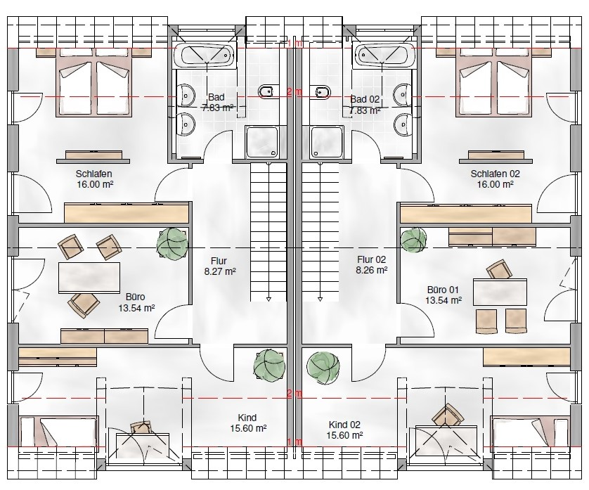 Haus Union - Haustypen - Wien - Grundriss - DG