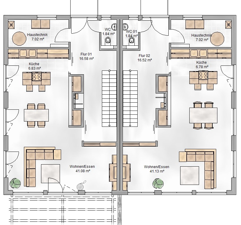Haus Union - Haustypen - Wien - Grundriss - EG